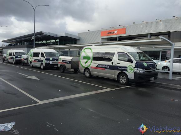 Super shuttle Aeroporto de Auckland
