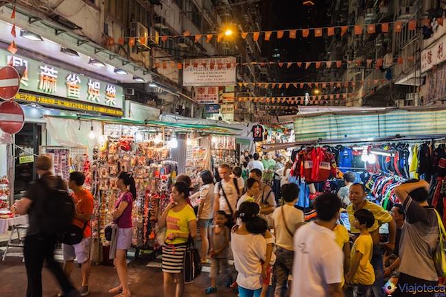 Mercados de Kowloon em Hong Kong