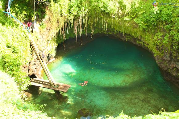 To Sua Trench em Samoa