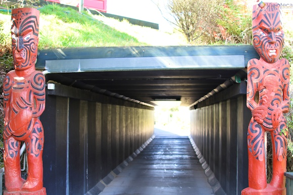 Tunel de acesso ao Te Puia em Rotorua