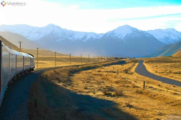 Viagem Trem na Nova Zelândia- TranzAlpine