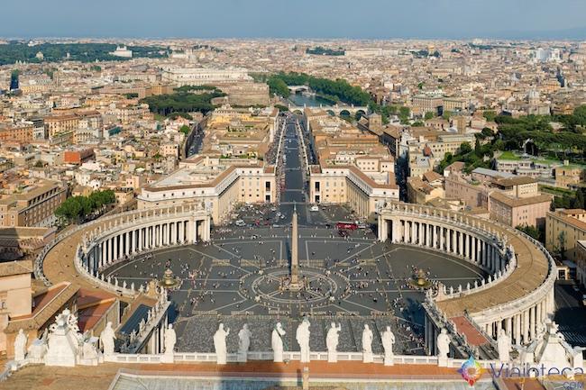 Vista da Cúpula da Basílica de São Pedro em Roma