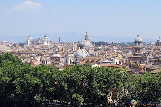 Vista do alto do castelo Santo Angelo em Roma