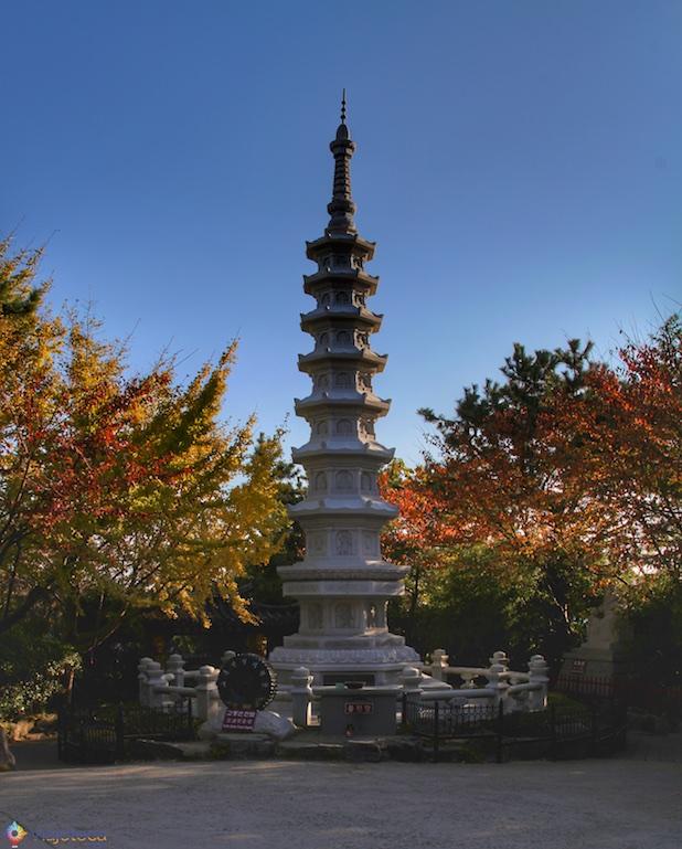 Yonggungsa Busan Coréia do Sul no Outono