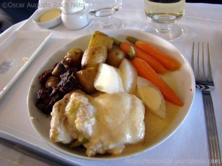 Comida Classe Executiva Singapore Airlines
