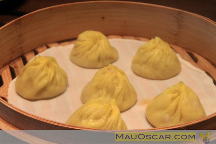 Dumplings de Queijo no Paradise Dynasty