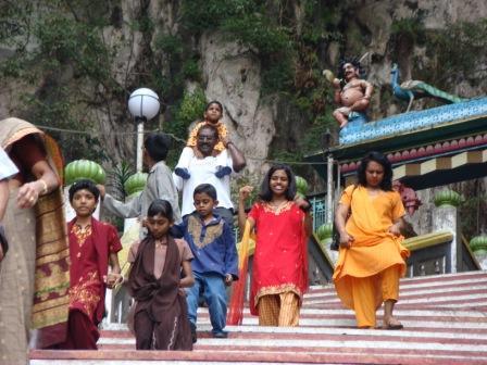 Indianos em Batu Caves