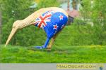 Kiwi gigante entre Auckland e Hamilton