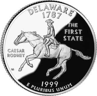 Moeda Comemorativa Delaware