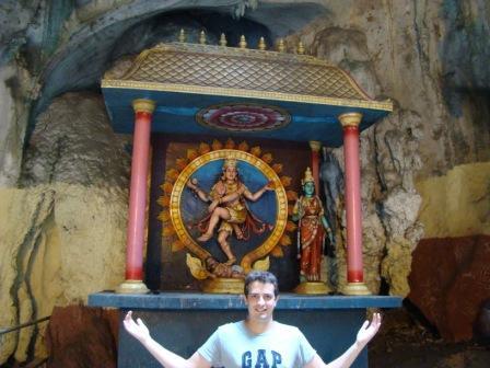Oscar no templo Hindu