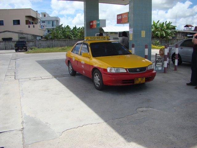 Pit Stop com o Taxi