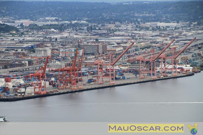 Porto de Seattle vista da Space Needle