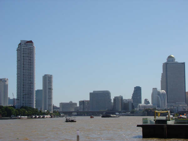 Rio Chao Phraya em Bangkok