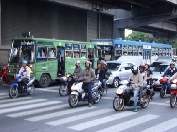 Transito em Bangkok