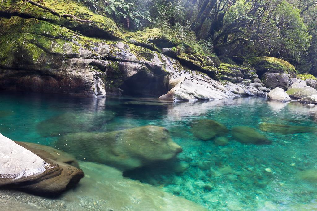 Águas de degelo no Fiordland National Park (Helder Ribeiro)