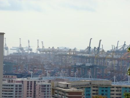 Vista do Porto de Singapura